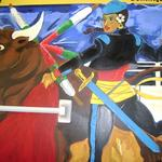"""The Bullfighter""  acrylic mural 2009"